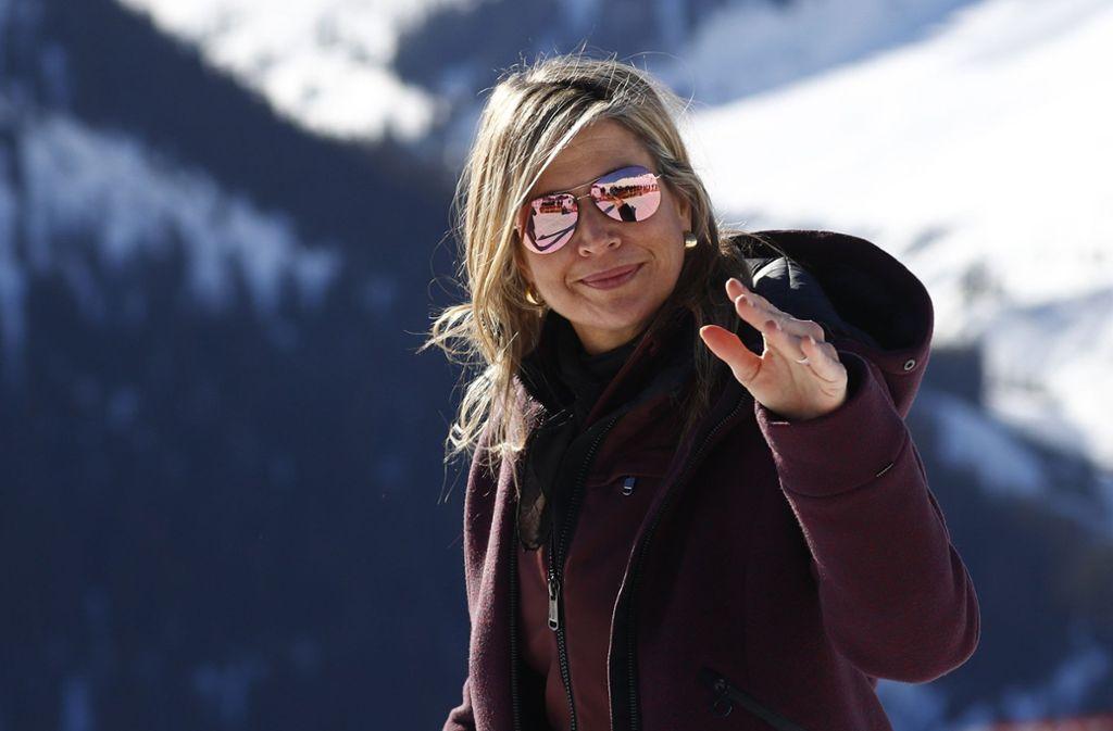 Königin Maxima im österreichischen Lech Foto: AP