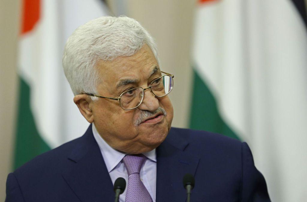 Palästinenser-Präsident Mahmud Abbas muss sich im Krankenhaus behandeln lassen. Foto: POOL