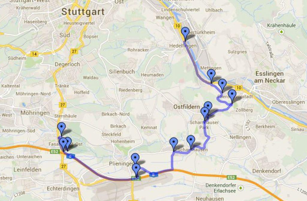 In der Nacht auf Freitag ist ein Bauteil des Bohrers für den Fildertunnel vom Stuttgarter Hafen nach Fasanenhof transportiert worden. In der Bildergalerie zeigen wir, wie der Abend abgelaufen ist. Foto: StZ