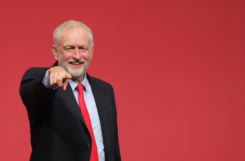 Glücklich nach seiner Wiederwahl: Jeremy Corbyn Foto: Getty