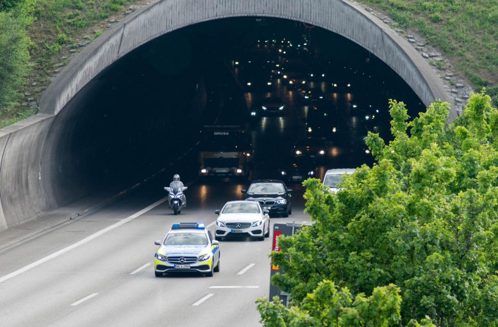 Am Wochenende ist der Engelbergtunnel voll gesperrt. Foto: 7aktuell.de/Nils Reeh