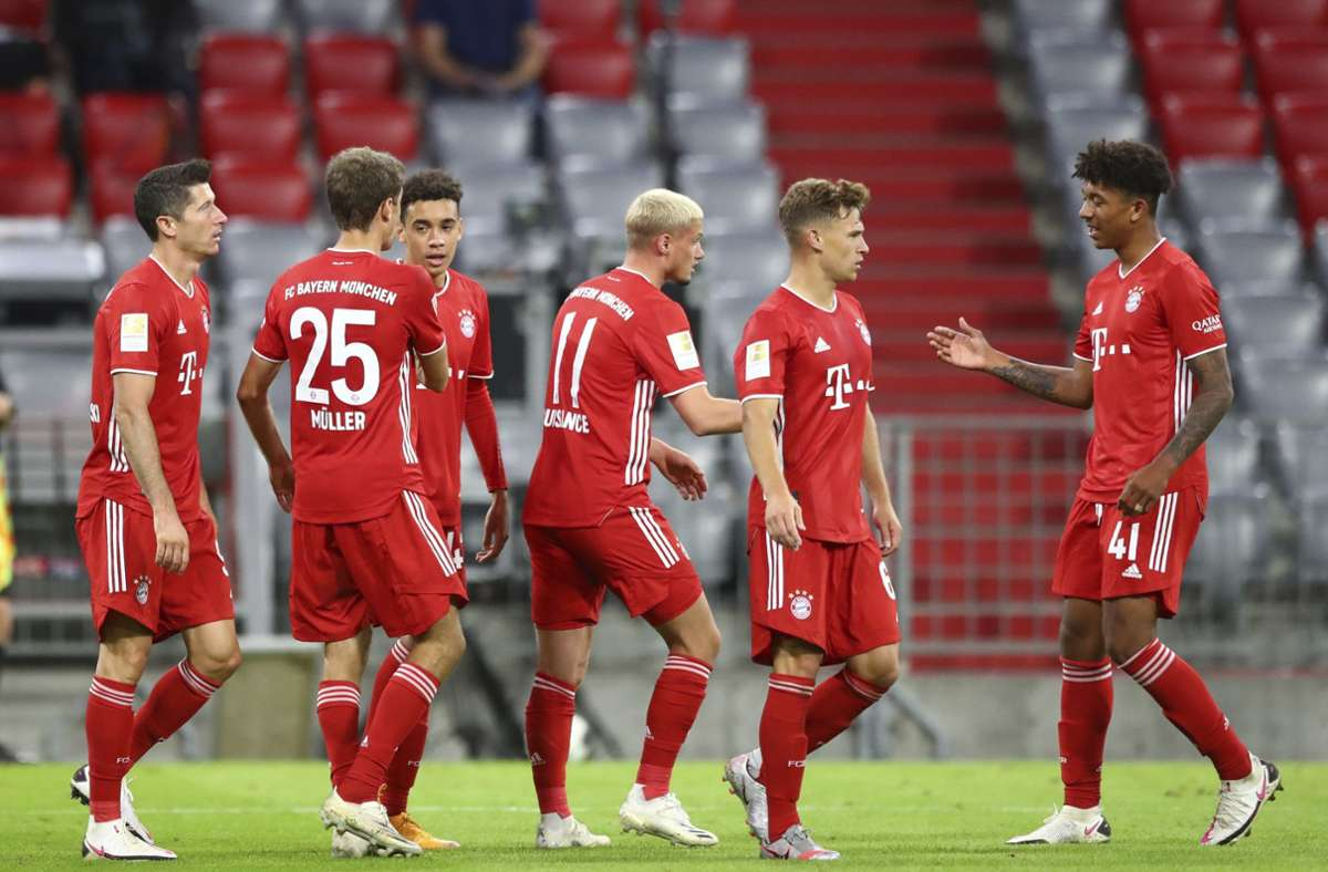 Die Bayern zeigten eine Machtdemonstration, die dem Rest der Bundesliga ganz schön imponiert haben dürfte. Foto: AP/Matthias Schrader