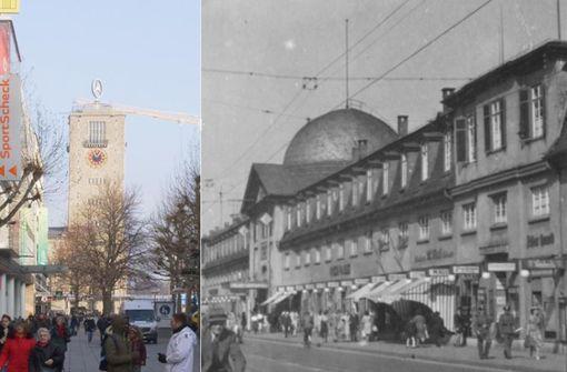 Die Königstraße damals und heute