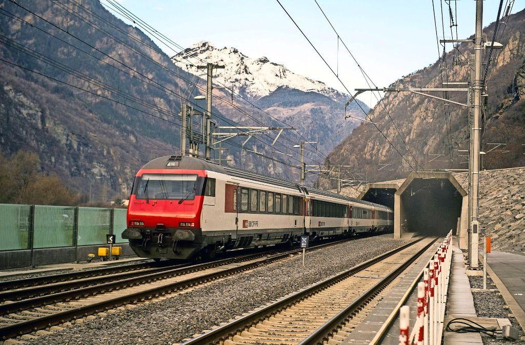 Der 57 Kilometer lange Gotthard-Tunnel ist seit einem Jahr eröffnet. Foto: dpa