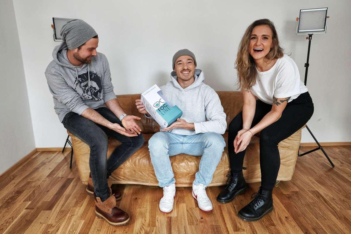 Jens Grüninger, Lucas und Jule Venrath sind die Gesichter hinter der Fog.line.  Foto: FotoNoid