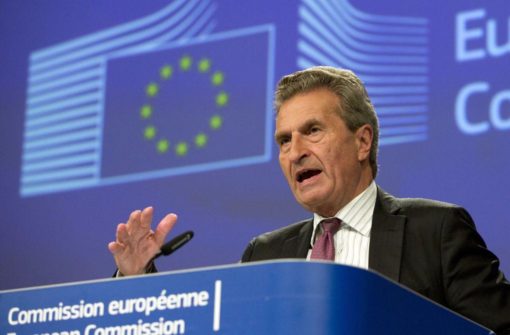 Seine Tage als EU-Kommissar sind gezählt: Günther Oettinger. Foto: AP