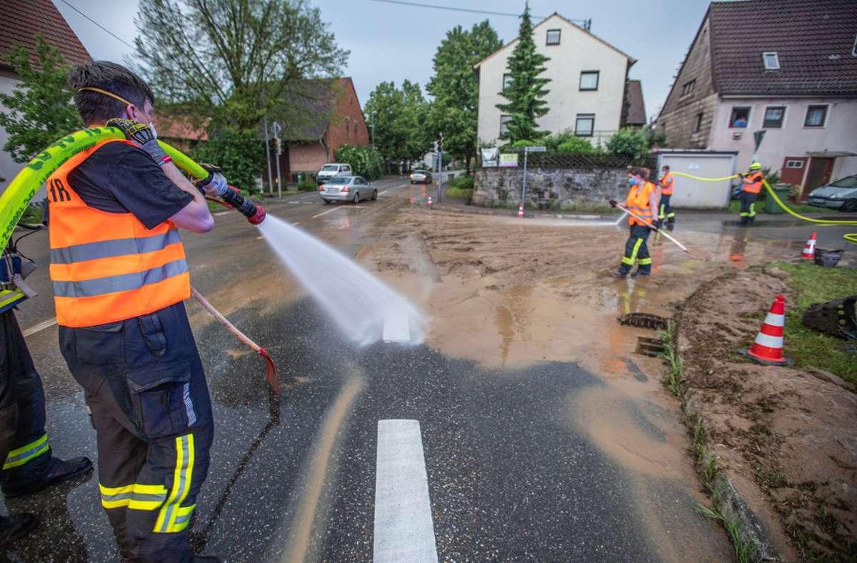 Rutschige und schmierige Angelegenheit in Tamm. Foto: 7aktuell.de/Simon Adomat