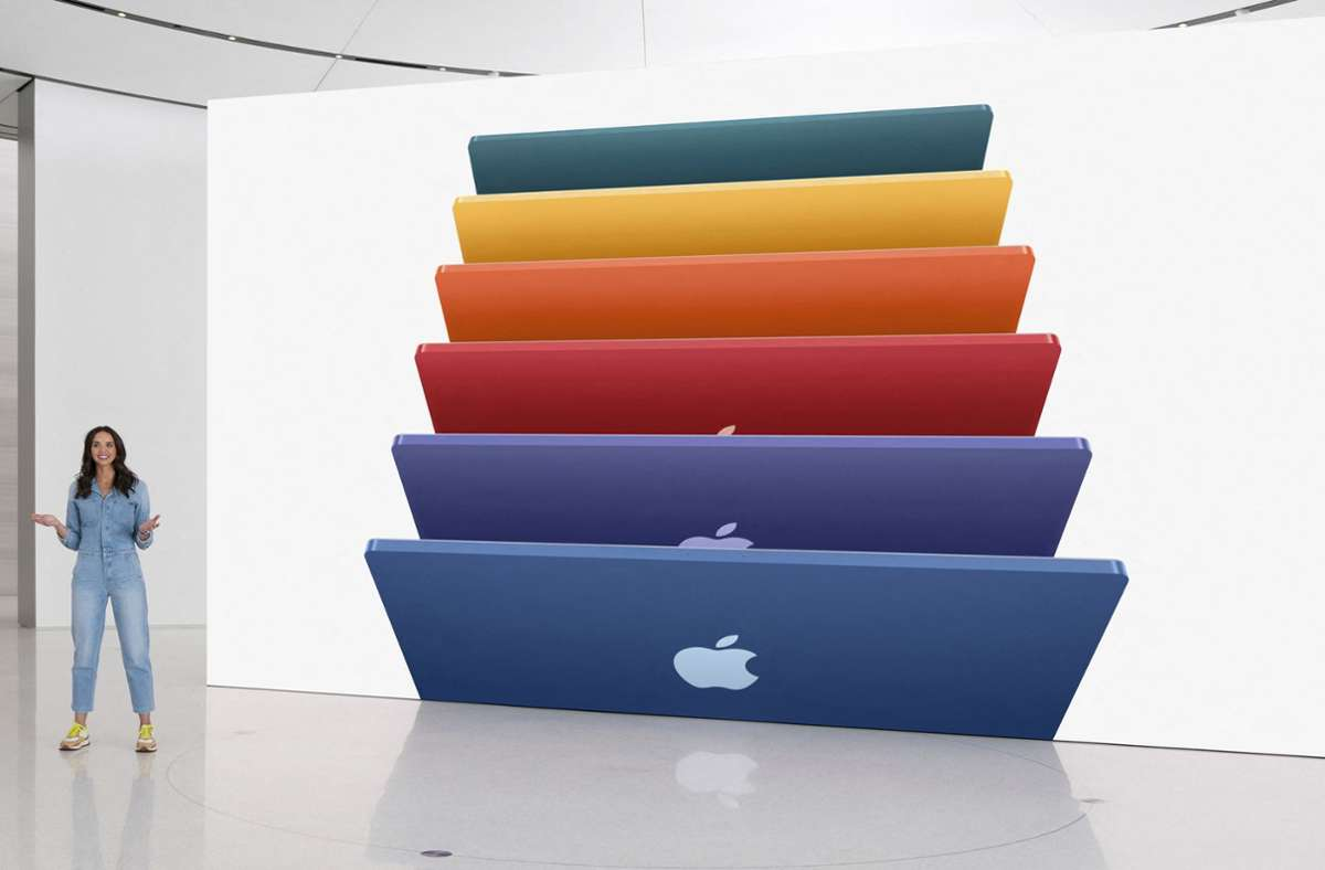 Der neue iMac ist nur 11,5 Millimeter dick. Foto: AFP/HANDOUT