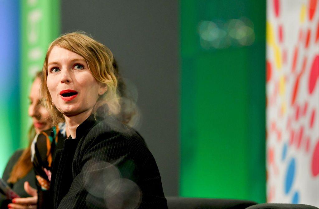 Chelsea Manning erzählt auf der Digitalkonferenz Republica ihre spannende Geschichte. Foto: dpa
