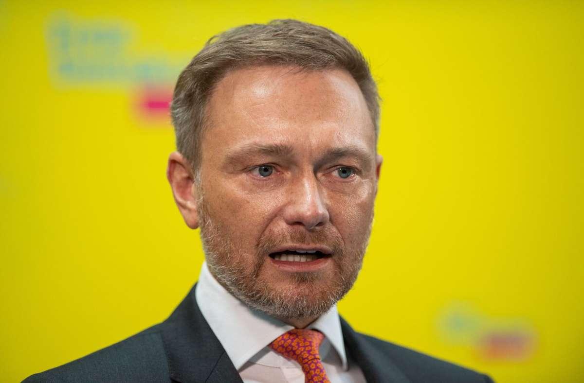 FDP-Parteichef Christian Lindner (Archivbild) Foto: dpa/Christophe Gateau
