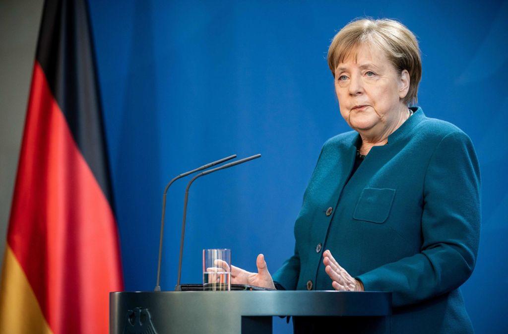Angela Merkel befindet sich derzeit in häuslicher Quarantäne. Foto: AFP/MICHAEL KAPPELER