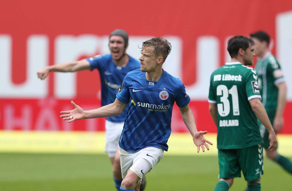 Nach neun Jahren zurück in Liga zwei: Hansa Rostock. Foto: dpa/Danny Gohlke