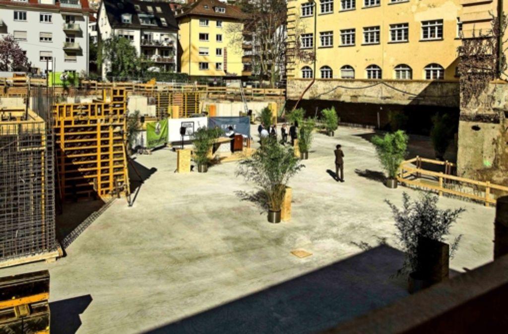 Der Grundstein für das  Bauvorhaben Villengarten ist gelegt Foto: Lichtgut/Piechowski