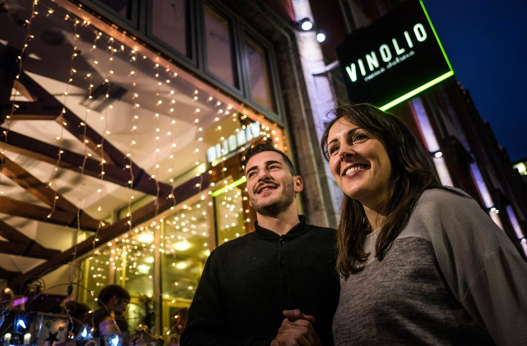Francesco und Tamara Vizzani, deren Lokal jetzt nicht mehr Vinolio heißt. Foto: Lichtgut/Max Kovalenko