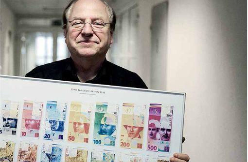 Ein Leonberger   gibt dem Geld ein Gesicht