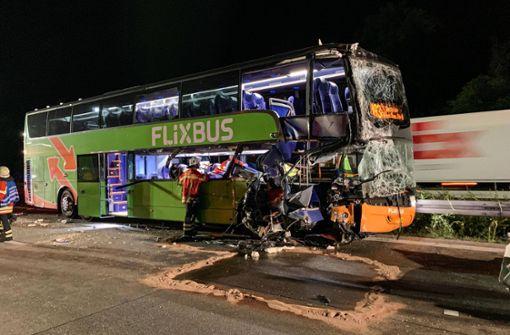 Verletzte nach Flixbus-Unfall auf der A5