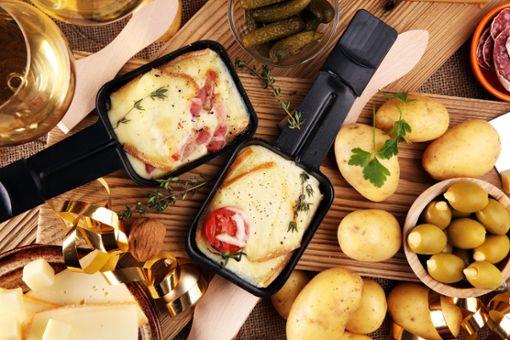 Raclette ist besonders an Weihnachten beliebt.