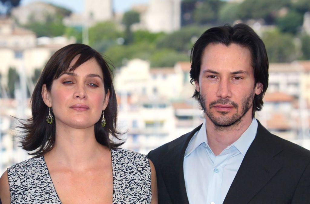 "Carrie-Anne Moss und Keanu Reeves drehen ""Matrix 4"". Foto: AFP"