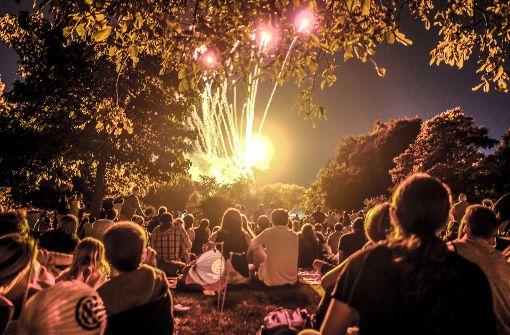 Feuerwerk mit Filmmusik
