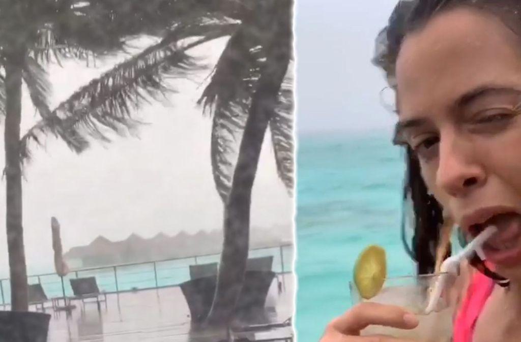 Vanessa Mai sieht zurzeit nur selten die Sonne auf den Malediven. Foto: Glomex/BitProjects