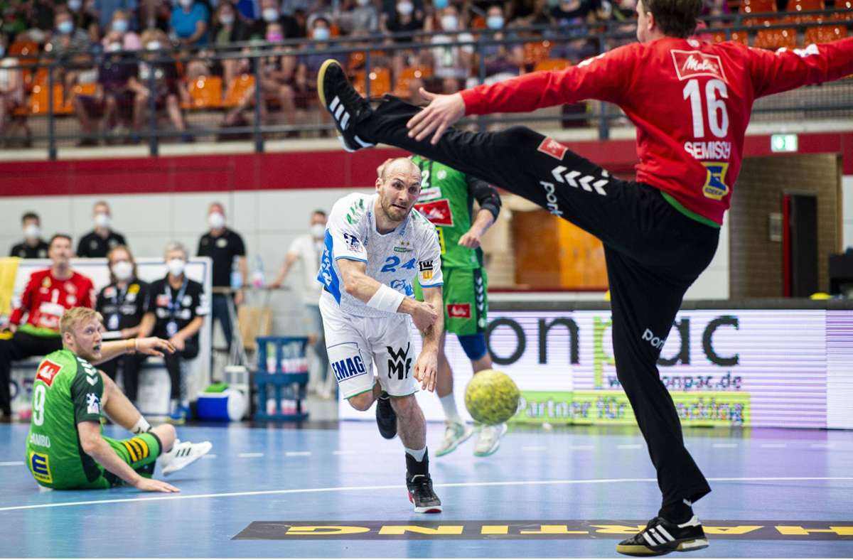 Marcel Schiller erzielte beim Spiel in Lübbecke sieben Tore – die Niederlage bei GWD Minden konnte der Frisch-Auf-Nationalspieler aber nicht verhindern. Foto: imago/Noah Wedel