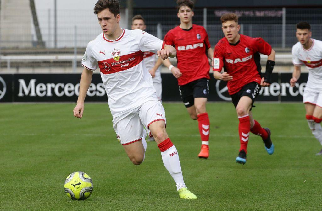 Bereitete  drei der sieben VfB-Tore vor: Der letztjährige U-19-Spieler Florian Kleinhansl. Foto: Baumann
