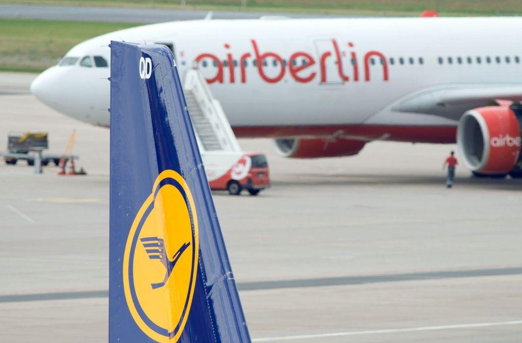 Die Bundesregierung setzt darauf, dass Lufthansa große Betriebsteile von Air Berlin übernimmt. Foto: dpa