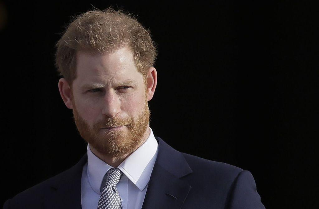 Prinz Harry zeigte in einer emotionalen Rede Gefühle. Foto: AP/Kirsty Wigglesworth