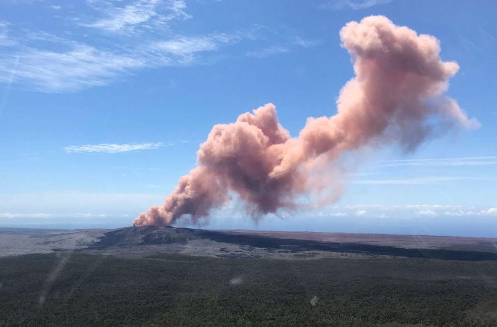 Die Katastrophenschutzbehörde warnt nach Ausbruch des Vulkans Kilauea die Einwohner vor giftigen Gasen, die tödlich sein könnten. Foto: US Geological Survey