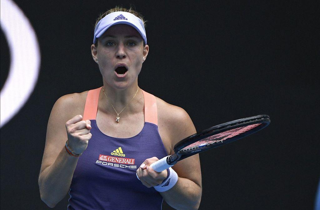 Angelique Kerber steht bei den Australien Open in Runde drei. Foto: AP/Andy Brownbill