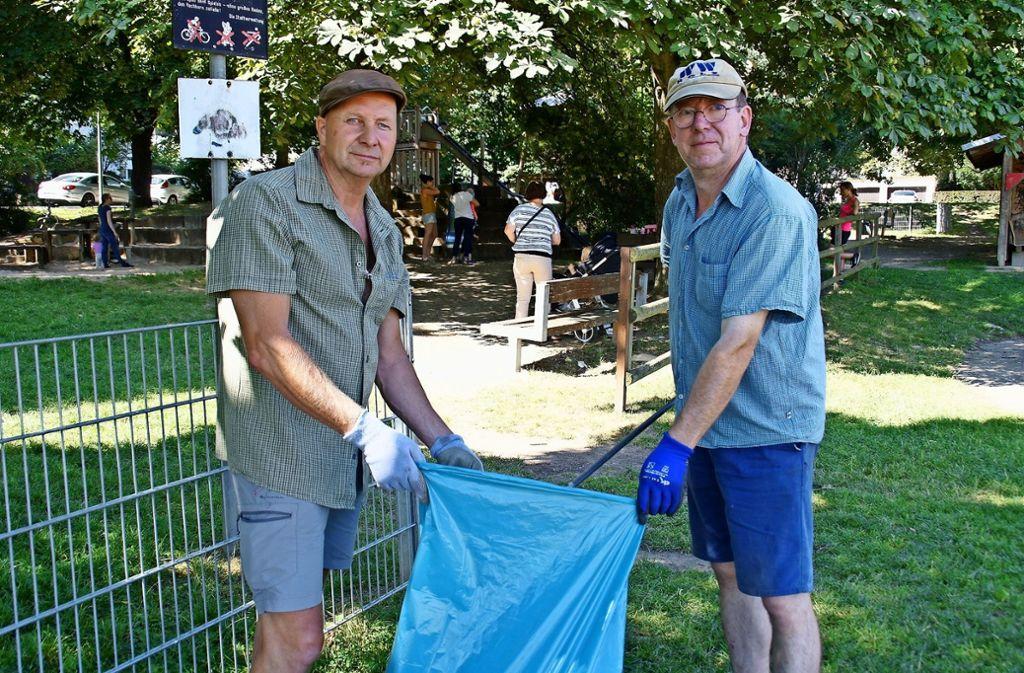 Nico Arnold (links) und Dieter Weinmann sind ein eingespieltes Team. Foto: Leonie Schüler