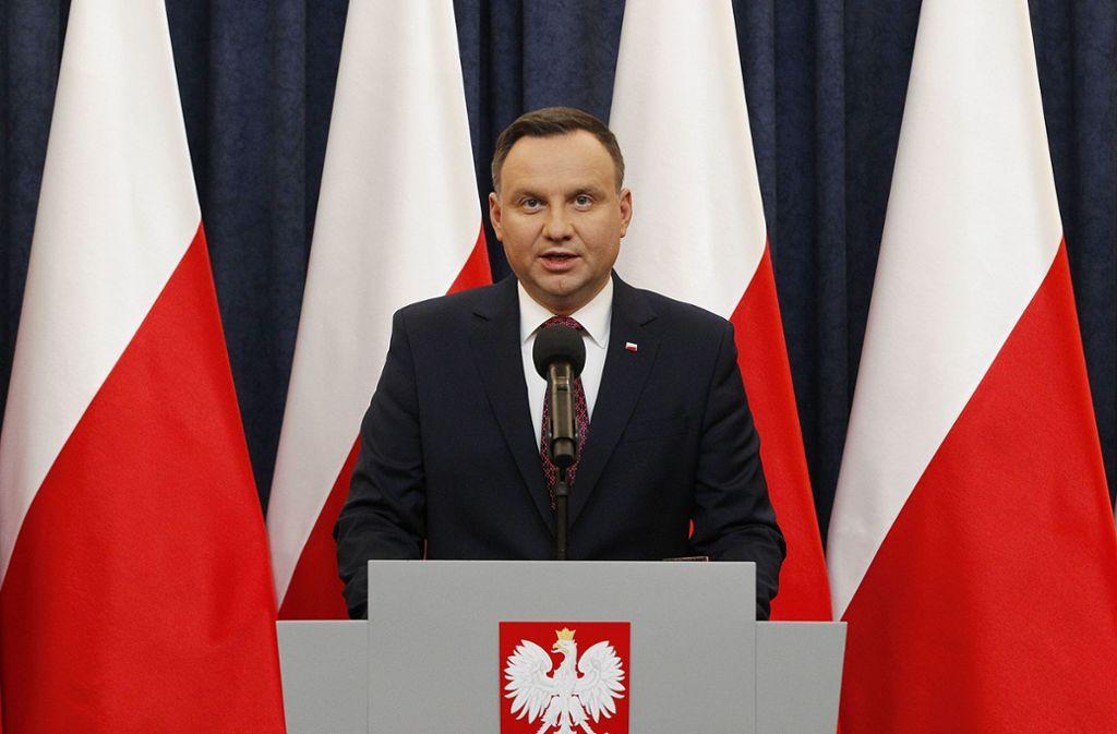 Polens Präsident Andrzej Duda. Foto: AP
