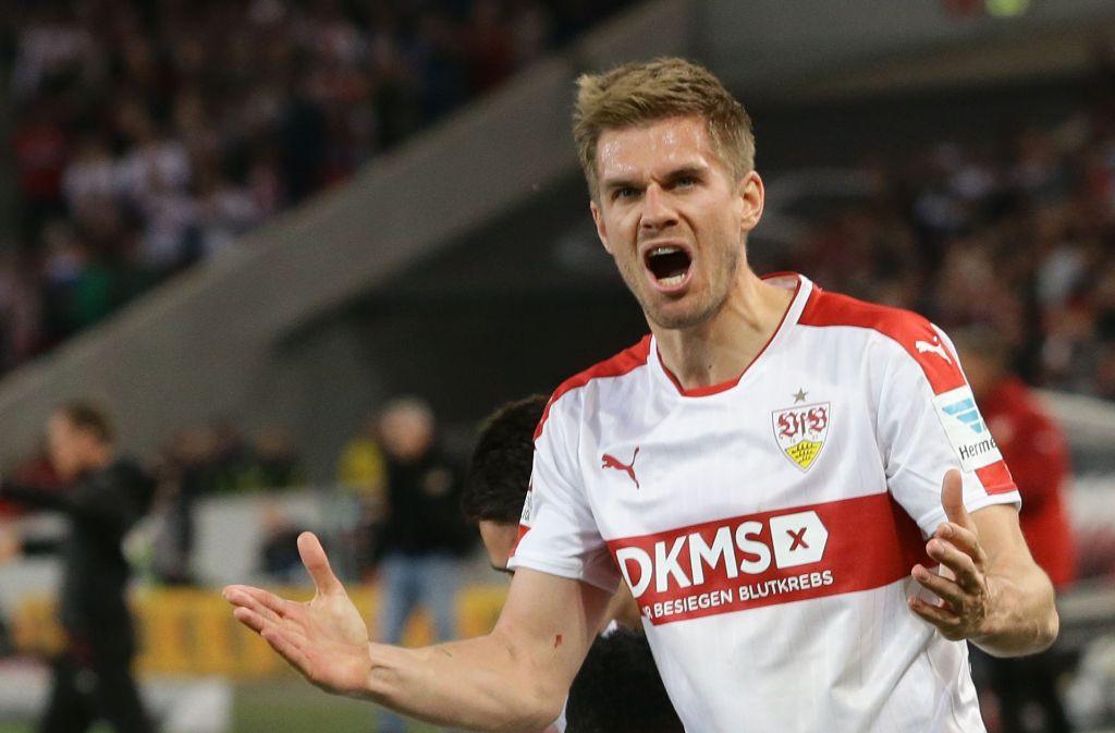 Simon Terodde ist beim VfB Stuttgart in der Form seines Lebens. Foto: Pressefoto Baumann
