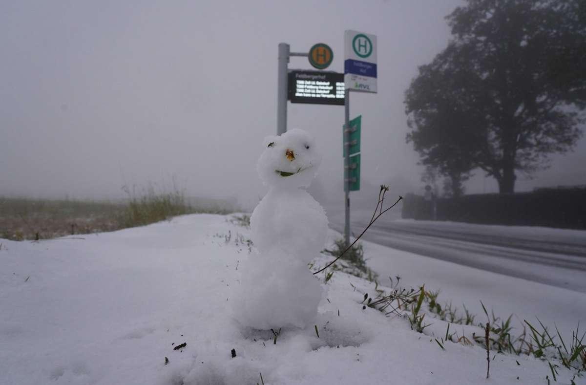 Im Schwarzwald war es am Wochenende schon richtig winterlich. Foto: dpa/Andreas Rosar