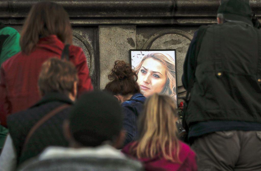 Die TV-Moderatorin Wiktorija Marinowa wurde brutal getötet. Foto: AP
