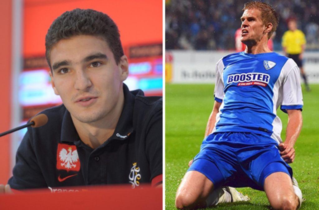 Marcin Kaminski und Simon Terodde (rechts) stehen beim VfB Stuttgart ganz oben auf der Liste. Foto: dpa/Bongarts