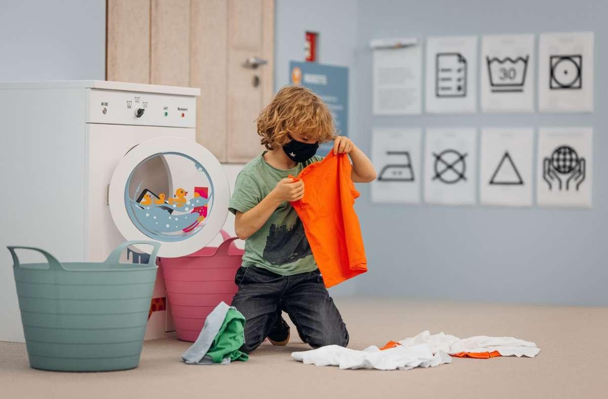 In der aktuellen Ausstellung lernen Kinder Waschanleitungen kennen. Foto: M. Schwarz/Sevencity