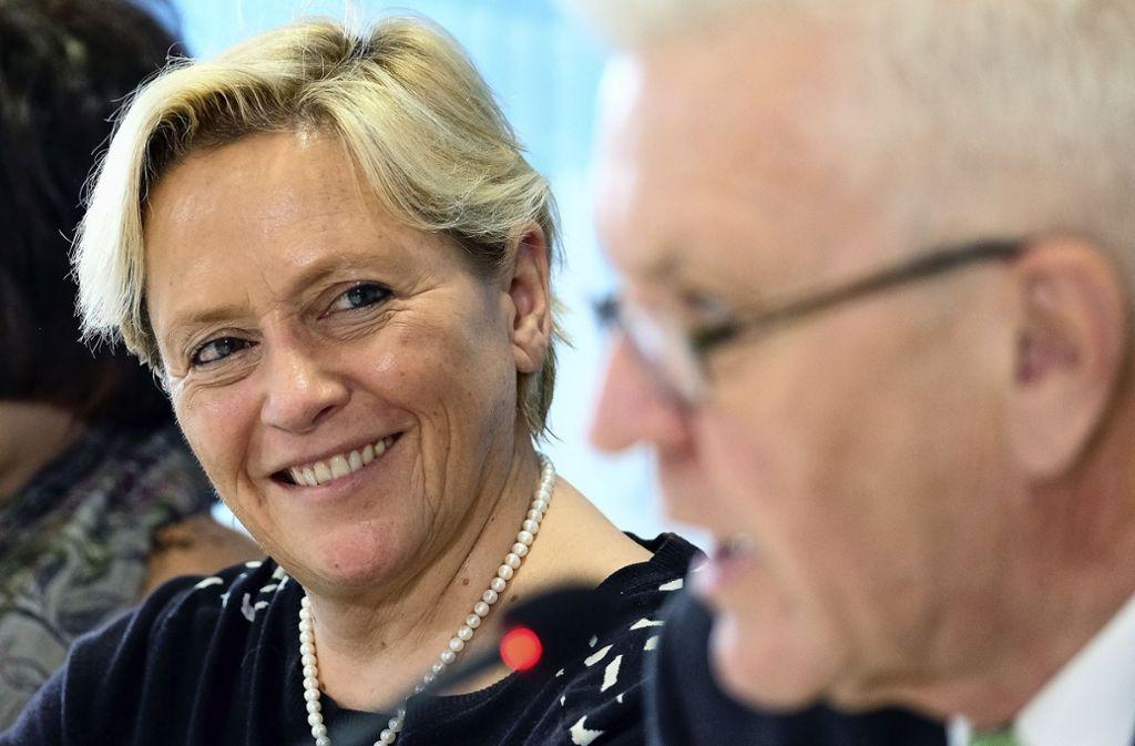 Susanne Eisenmann (CDU) tritt als Herausforderin von Winfried Kretschmann (Grüne) in der kommenden Landtagswahl an. Foto: dpa/Bernd Weissbrod