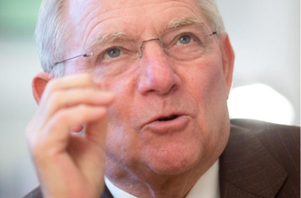 Finanzminister Wolfgang Schäuble sieht bei Stuttgart 21 ein gesamtstaatliches Interesse. Foto: dpa