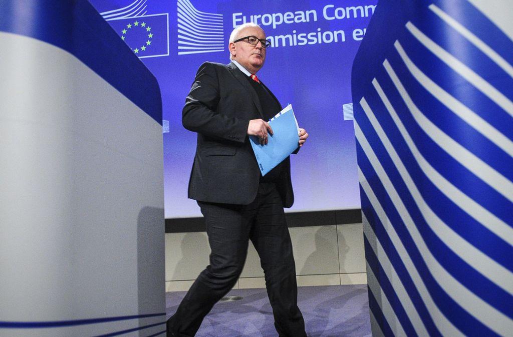Kommissionsvizepräsident Frans Timmermans Foto: dpa