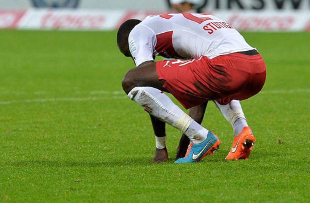 Enttäuschung bei Antonio Rüdiger nach dem Abpfiff: Der VfB Stuttgart hat in Bremen 0:2 verloren. Foto: dpa