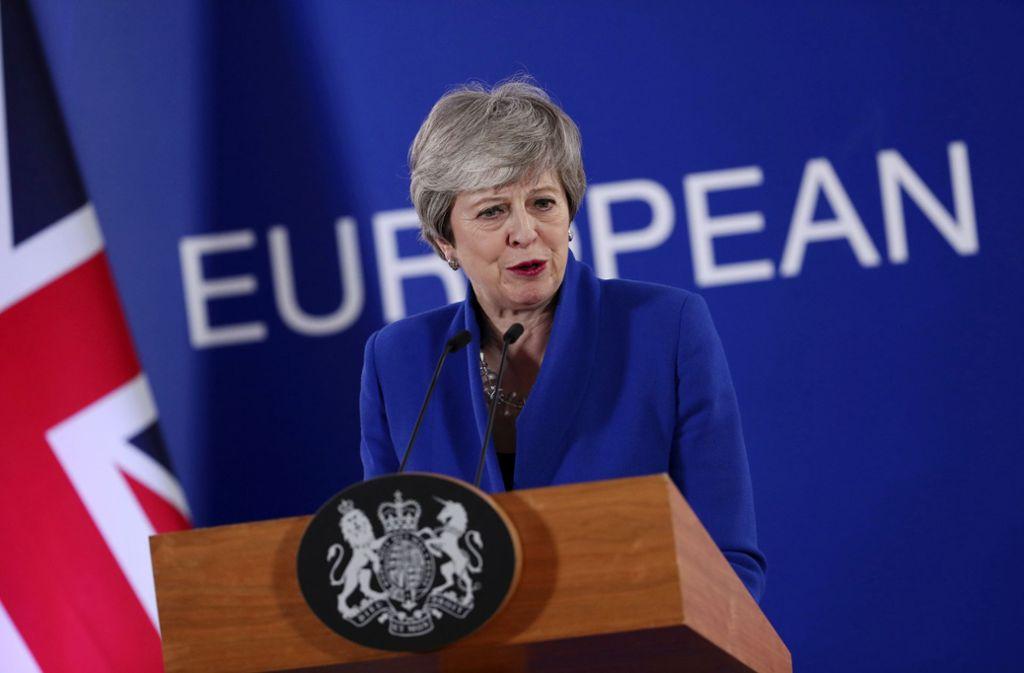 Theresa May will über ein zweites Brexit-Referendum abstimmen lassen. Foto: AP