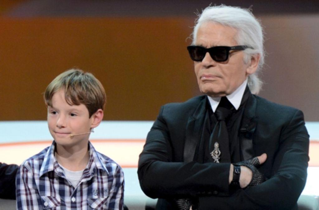 Karl Lagerfeld kommt mit Kindern gut aus. Sagt er. Foto: ZDF