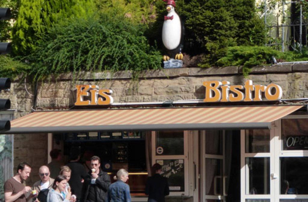 Die Eisdiele Pinguin am Eugensplatz in Stuttgart Foto: Leserfotograf hechi