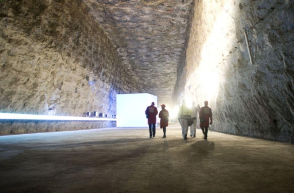 Unter Tage – so sieht es im Salzbergwerk Heilbronn aus. Foto: dpa