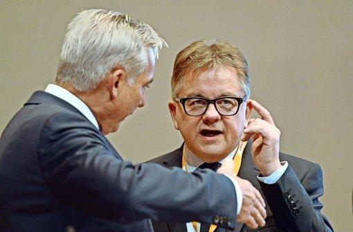 CDU-Landeschef Thomas Strobl (links) und Fraktionschef Guido Wolf. Wer hat das Sagen? Foto: dpa