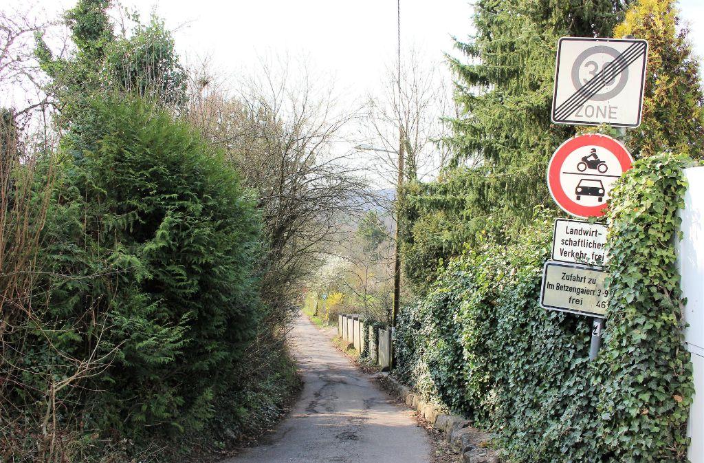 Durchfahrtsverbot – doch dieses Schild schreckt nur wenige ab. Foto: Caroline Holowiecki