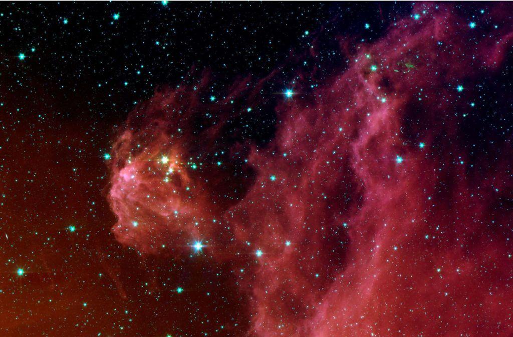 Das von der US-Raumfahrtbehörde Nasa veröffentlichte Foto des Spitzer Space Telescope zeigt junge  Sterne im Sternbild Orion. Foto: ísica Fundamental