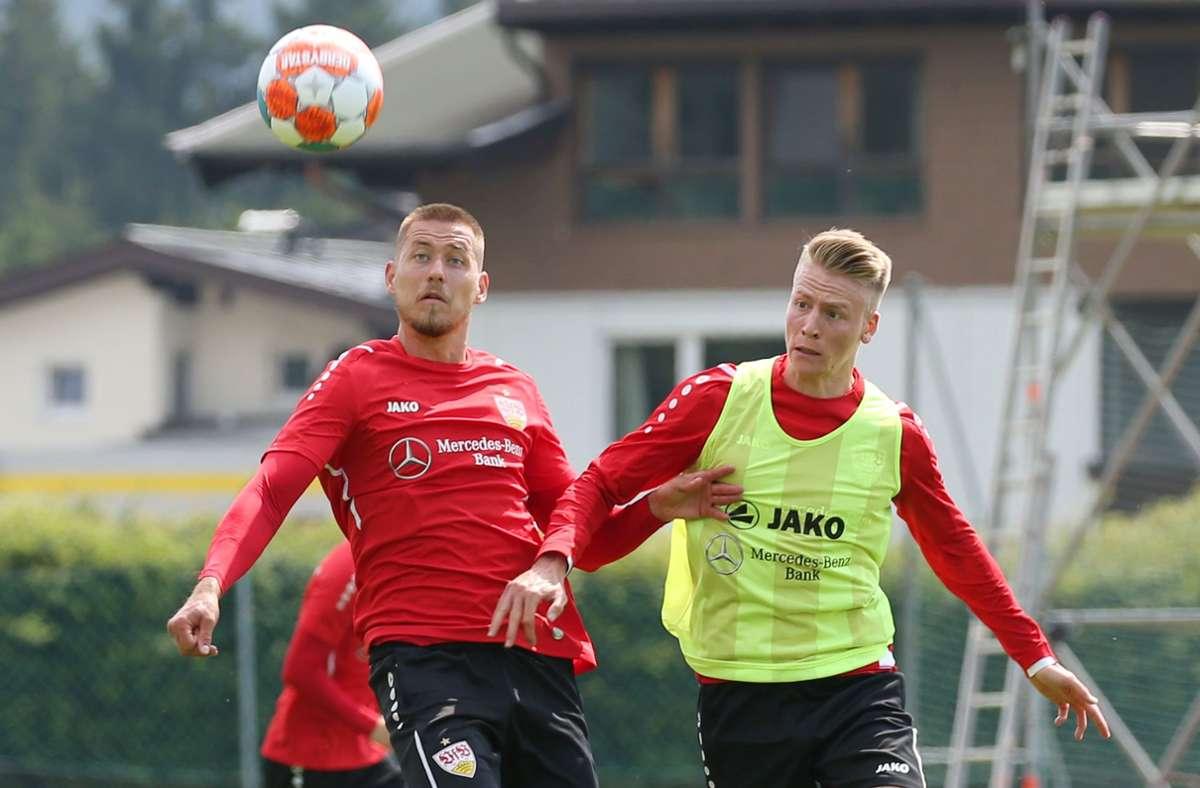 Chris Führich (rechts) verstärkt nun den VfB Stuttgart. Foto: Pressefoto Baumann/Alexander Keppler