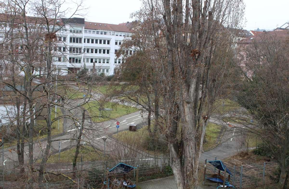 Der ehemalige Verkehrsübungsplatz soll aufwendig umgestaltet werden. Auch im Untergrund passiert einiges. Foto: Tilman Baur